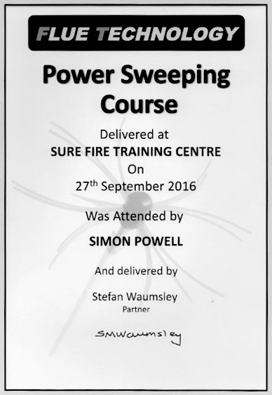 Power Sweeping Course Certificate